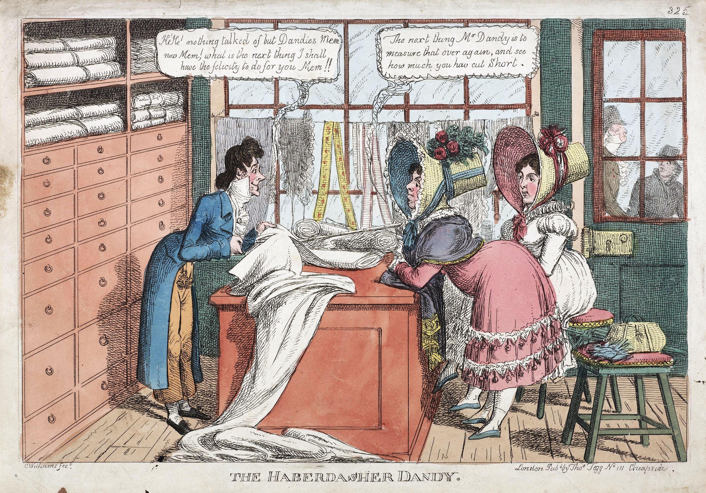 Haberdasher Dandy Illustration 19th Century