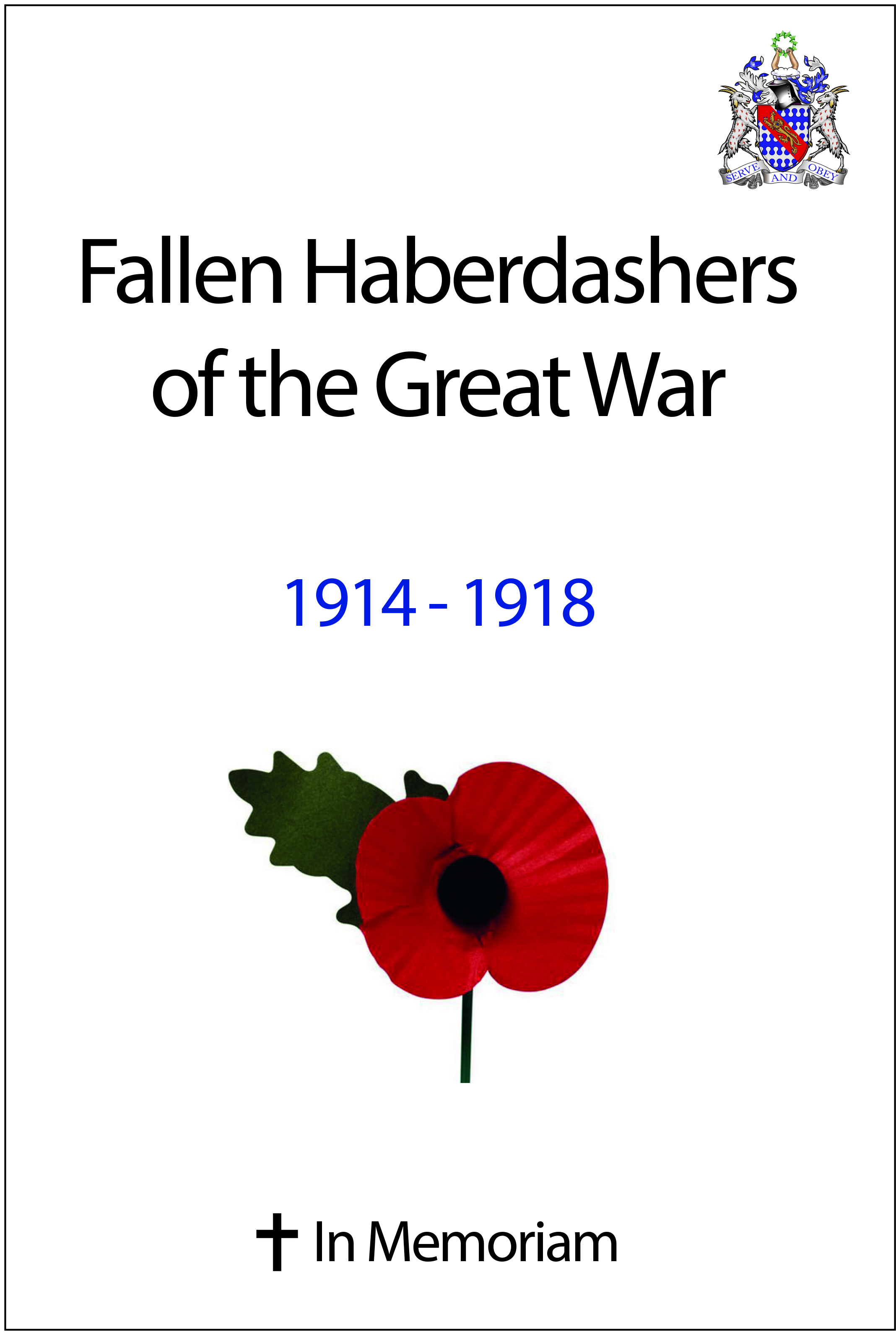 Fallen Haberdashers of the Great War, 1914-1918